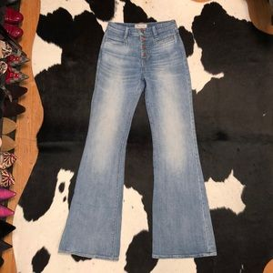 Madewell flea market flare, button fly, size 25